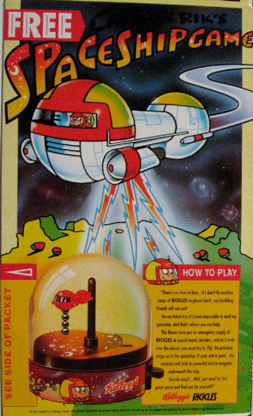 1991 Ricicles Captain Rik Space Ship Game