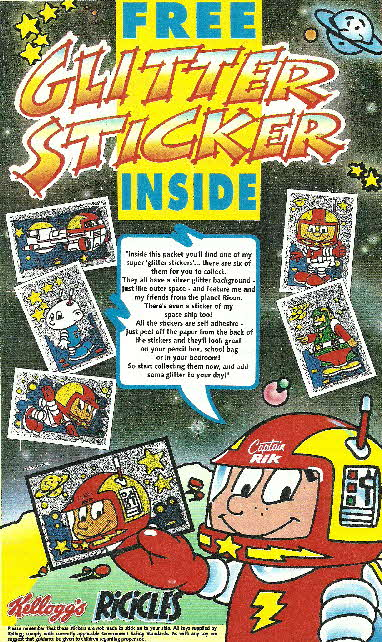 1990 Ricicles Capt.Rik Glitter stickers
