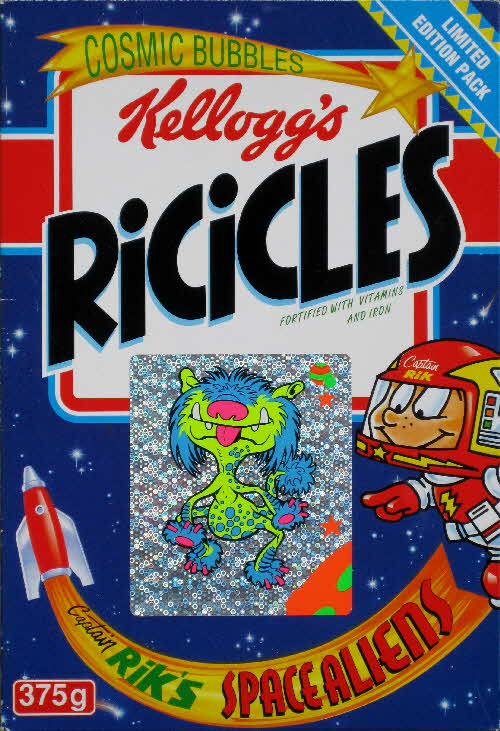 1994 Ricicles Space Alien stickers (2)