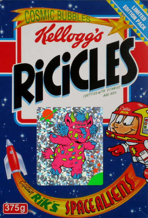 1994 Ricicles Space Alien stickers (3)