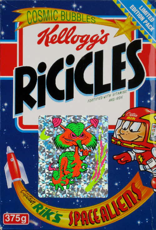 1994 Ricicles Space Alien stickers (4)