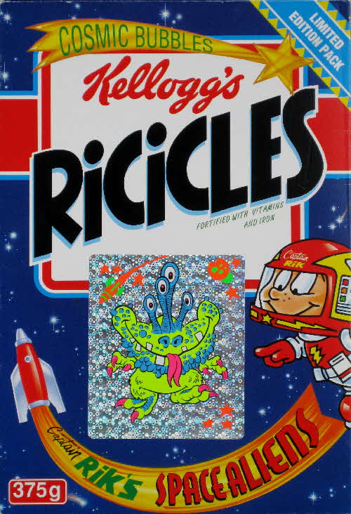 1994 Ricicles Space Alien stickers (5)