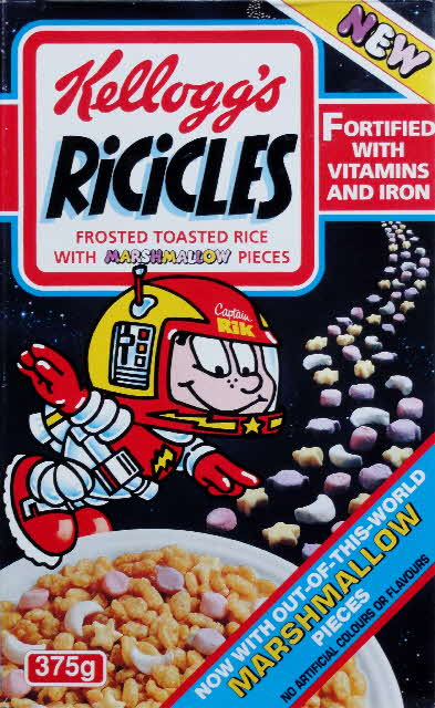 1991 Ricicles & Marshmellow Space Glow Stickers