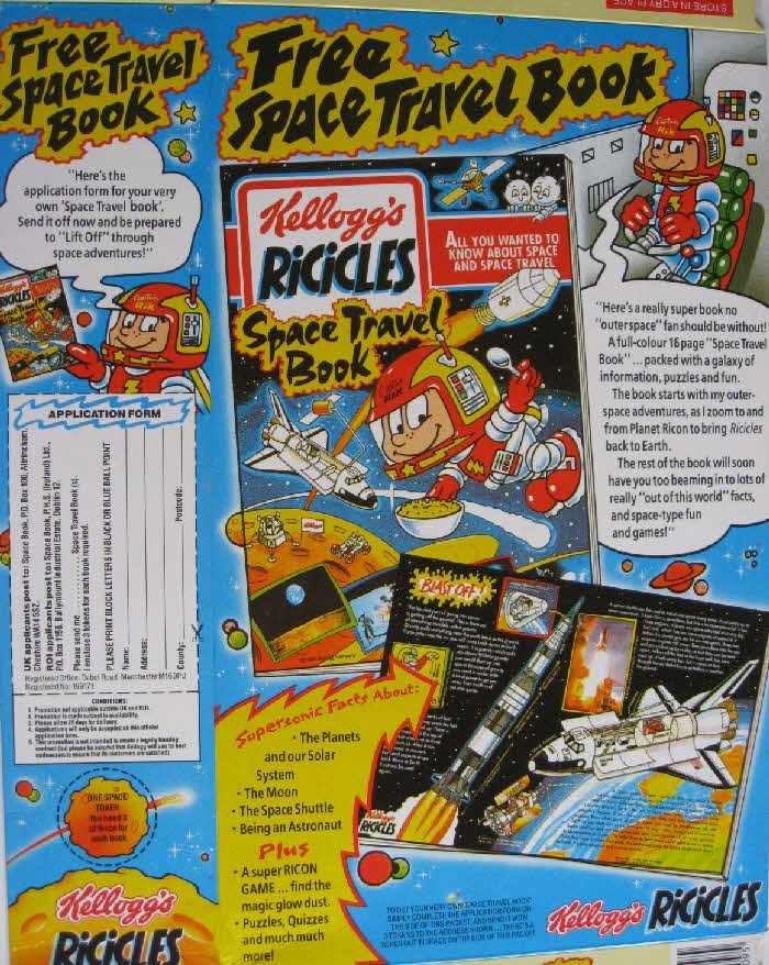 1991 Ricicles Space Travel Book