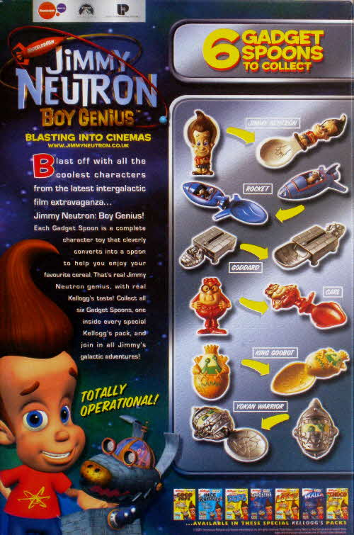 2002 Ricicles Jimmy Neutron Gadget Spoons