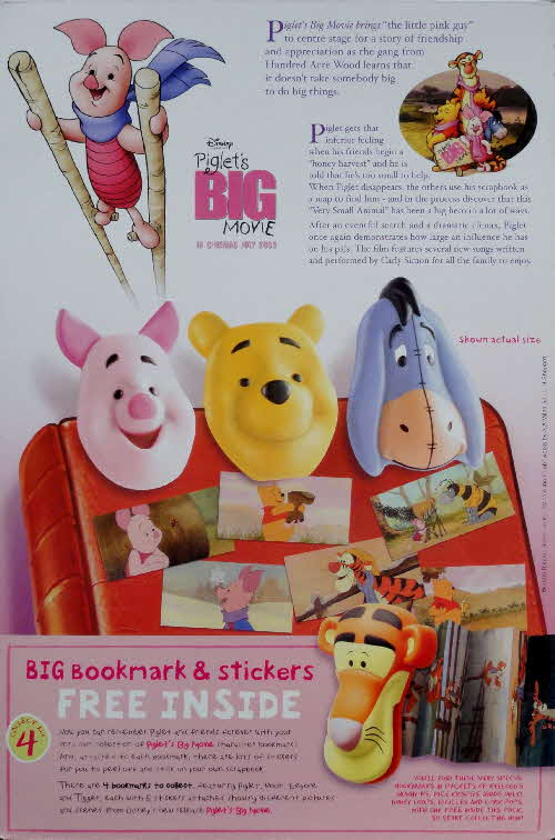 2003 Ricicles Piglet the Movie Bookmarks