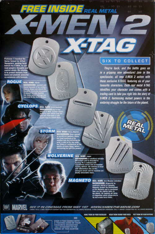 2003 Ricicles X Men 2 X Tags