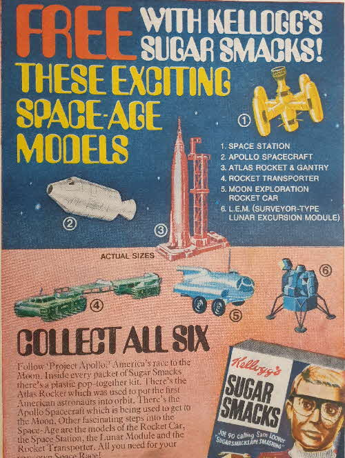1969 Sugar Smacks Space Age Models