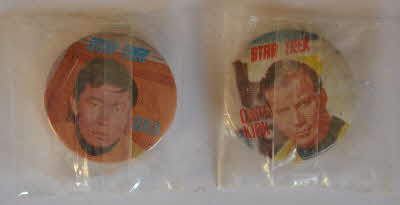 1969 Sugar Smacks Star Trek Badges - Mint