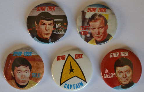 1969 Sugar Smacks Star Trek Badges
