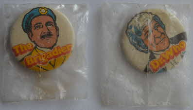 1971 Sugar Smacks Dr Who badges back - Mint