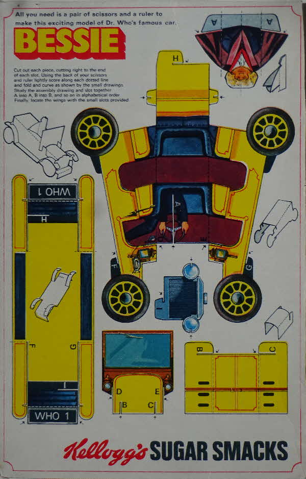 1971 Sugar Smacks Dr Who Bessie Car Cut Out (2)