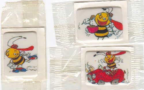 1986 Honey Smacks Barnabee sticky badges 1
