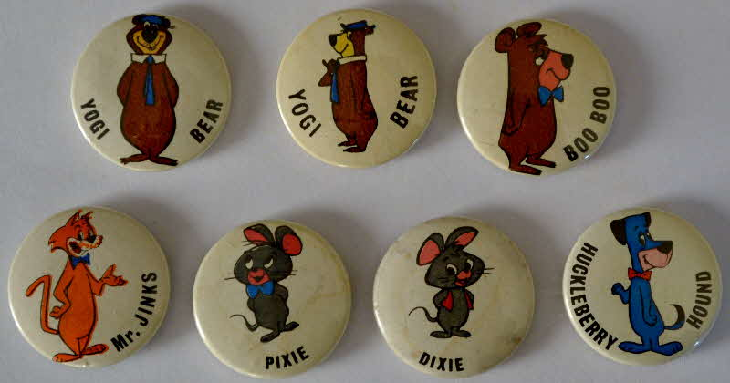 1962 Coco Pops Yogi Bear & Friends badges