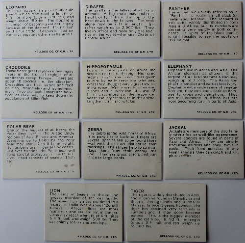 1971 Sugar Smacks 3D Wildlife Picture Cards 1 (1)