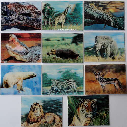 1971 Sugar Smacks 3D Wildlife Picture Cards 1 (2)