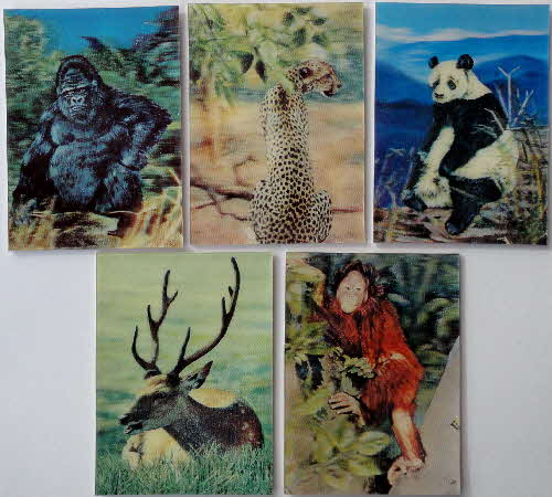1971 Sugar Smacks 3D Wildlife Picture Cards 2 (2)