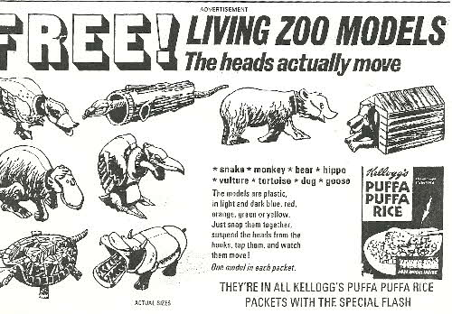 1969 Puffa Puffa Rice Living Zoo Models (betr)