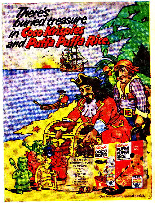 1974 Coco Krispies Model Pirates