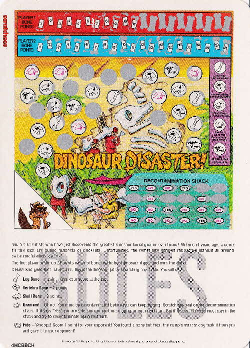 1991 Quaker Harvest Scratchees Game card (2)