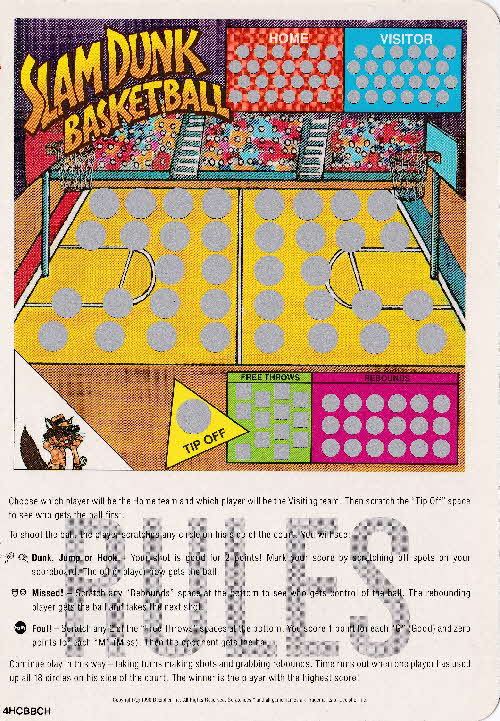 1991 Quaker Harvest Scratchees Game card (7)