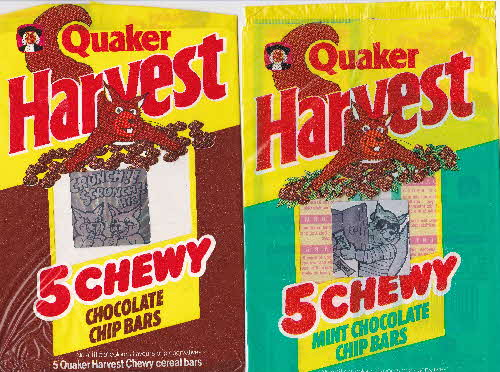 1990 Harvest Crunch Bars Squirrel Holograms (1)