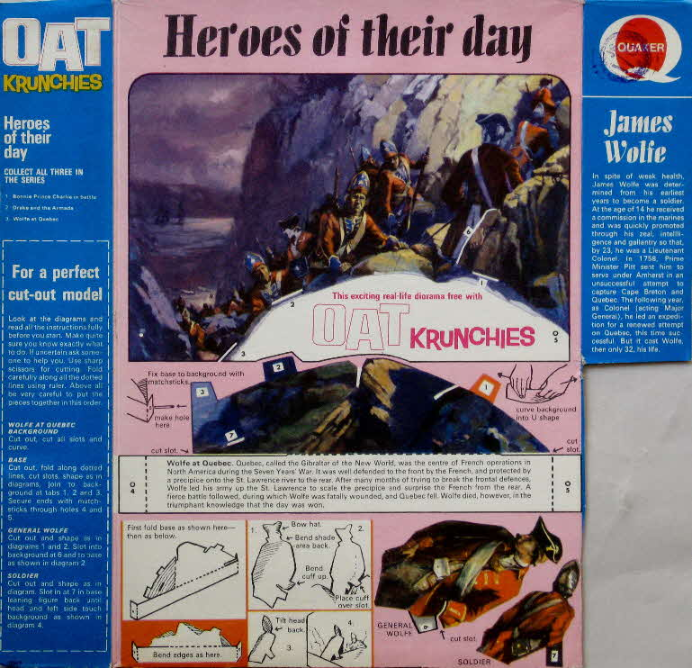 1967 Oat Krunchies Heroes of the Day - James Wolfe