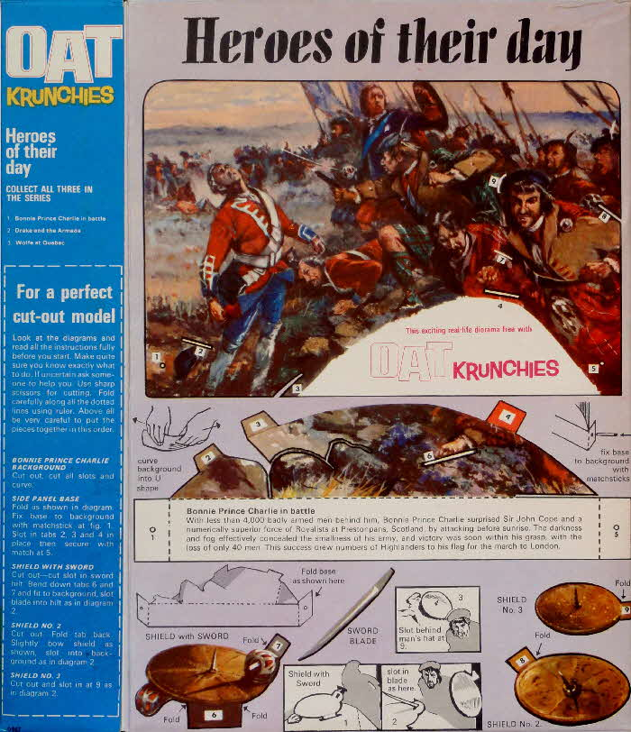 1967 Oat Krunchies Heroes of the Day Bonnie Prince Charlie (2)