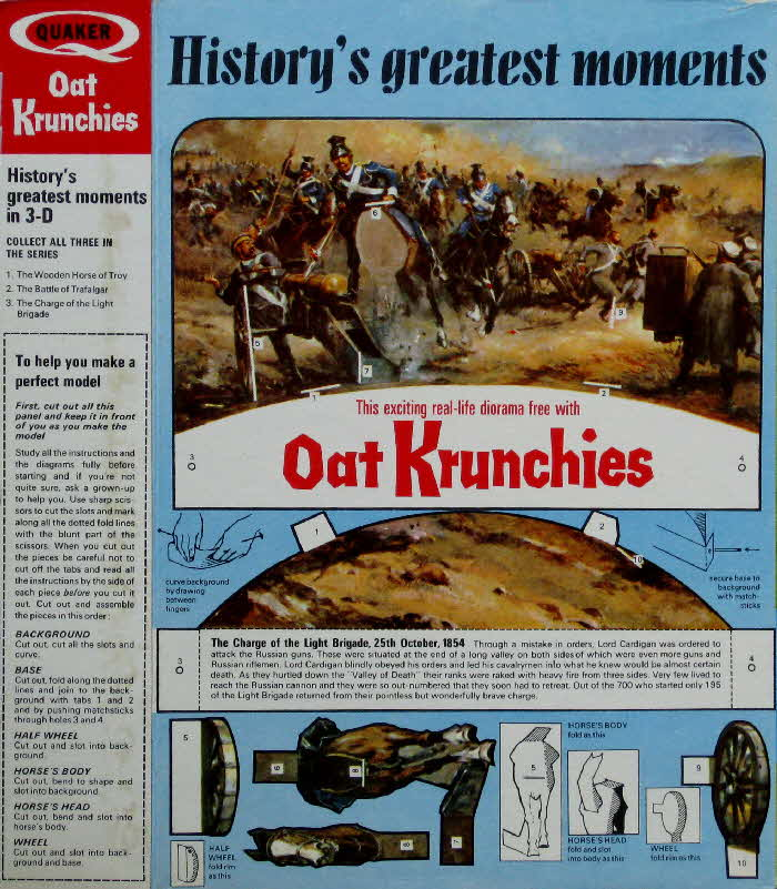 1967 Oat Krunchies History's Greatest Moments 1 - Charge of Light Brigade