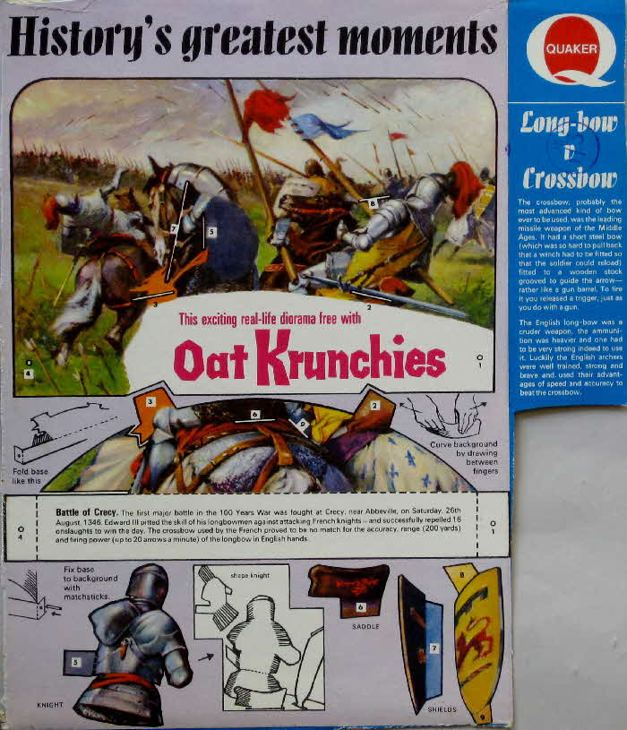 1967 Oat Krunchies History's Greatest Moments 2 - Battle of Crecy