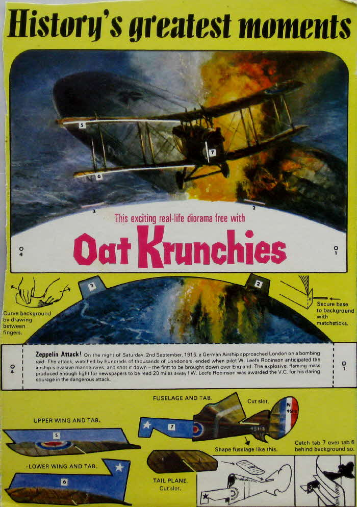 1967 Oat Krunchies History's Greatest Moments 2 - Zeppelin Attack