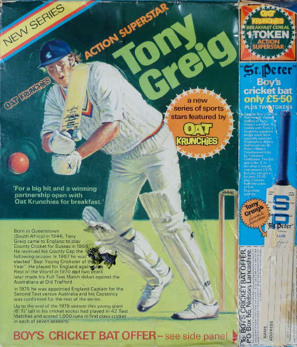 1975 Oat Krunchies Action Superhero Tony Greig Cricket Offer (2)