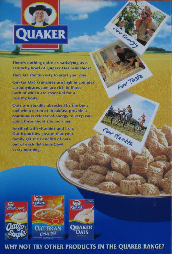 2001 Oat Krunchies for Health