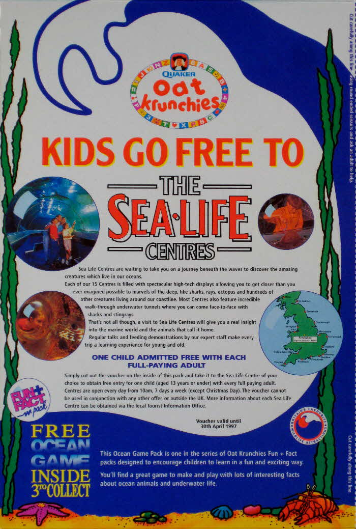 1996 Oat Krunchies Sea Life scenes