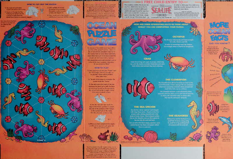 1996 Oat Krunchies Sealife games inside (2)