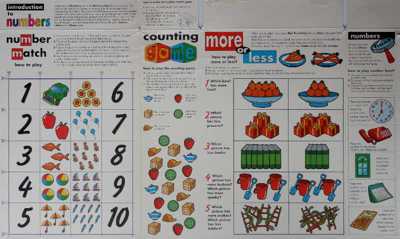 1997 Oat Krunchies Play & Learn Counting