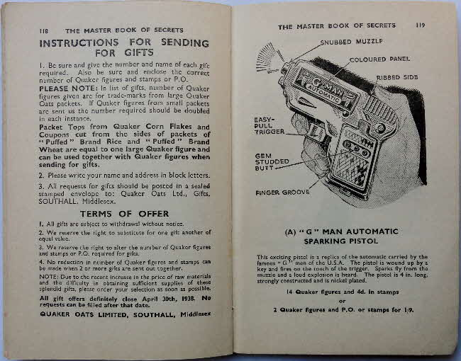1937 Quaker Oats Master Book of Secrets offers (2)