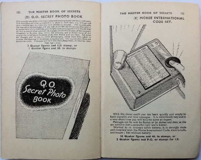 1937 Quaker Oats Master Book of Secrets offers (4)