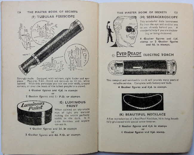 1937 Quaker Oats Master Book of Secrets offers (5)