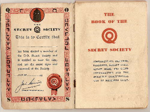 1930s Quaker Oats Book of Secret Society (2)