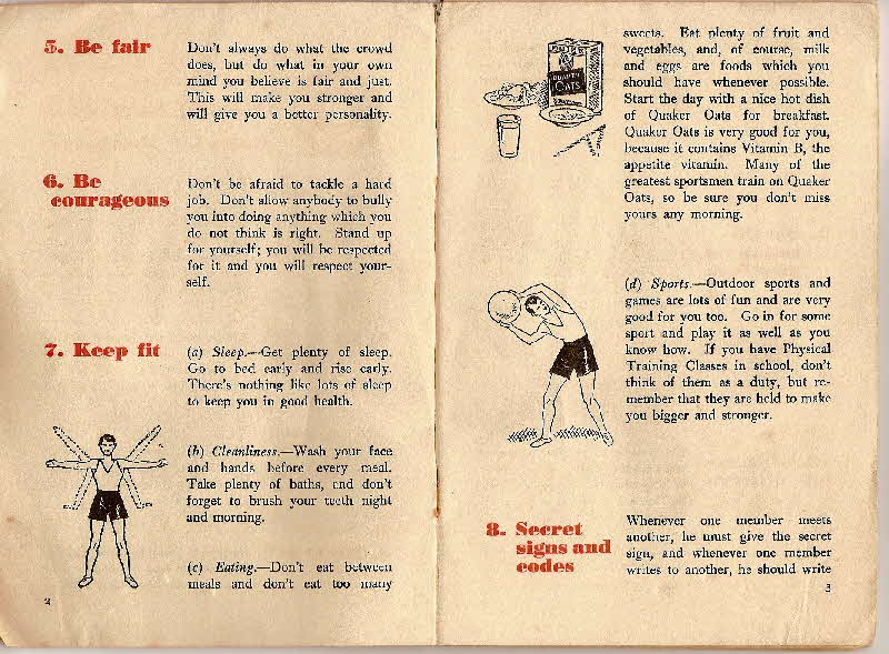 1930s Quaker Oats Book of Secret Society (4)