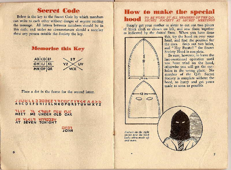 1930s Quaker Oats Book of Secret Society (6)