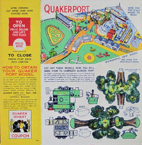 1930s Quaker Puffed Wheat Quakerport back (betr)