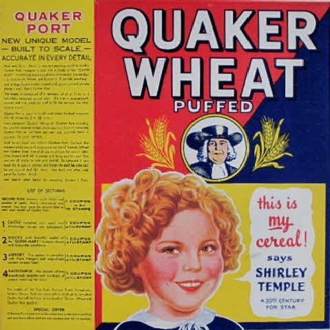 1930s Quaker Puffed Wheat Quakerport front (betr)2