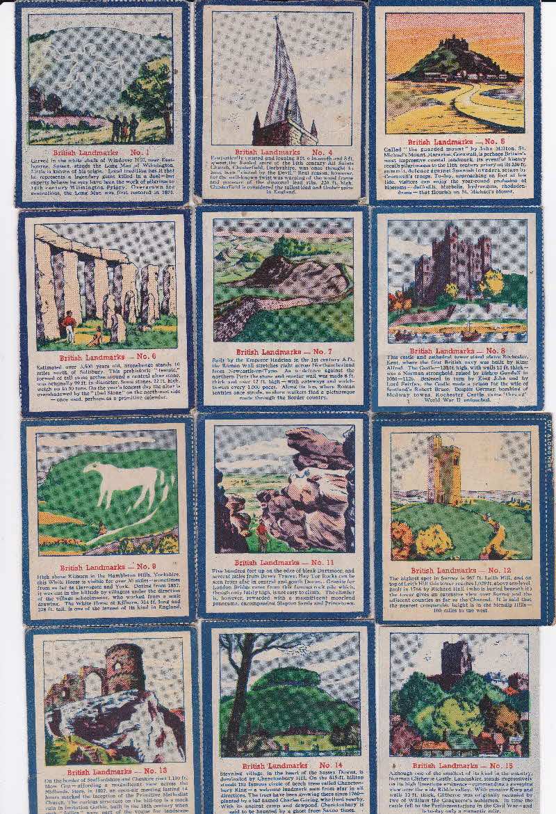 1952 Quaker Oats Puffed Wheat  British Landmarks 1