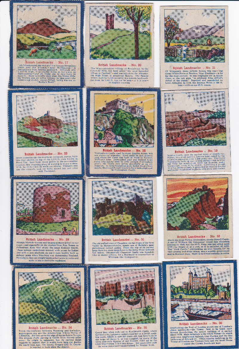 1952 Quaker Oats Puffed Wheat  British Landmarks 2
