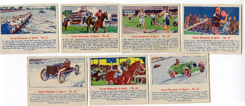 1952 Quaker Oats Puffed Wheat  Great Moments of Sport 2