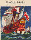 1956 Puffed Wheat Quiz Cards Famous Ships