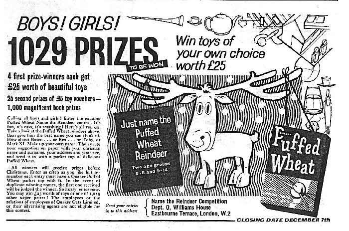 1960 Puffed Wheat Competition1