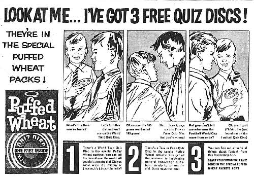 1962 Puffed Wheat Quiz Discs